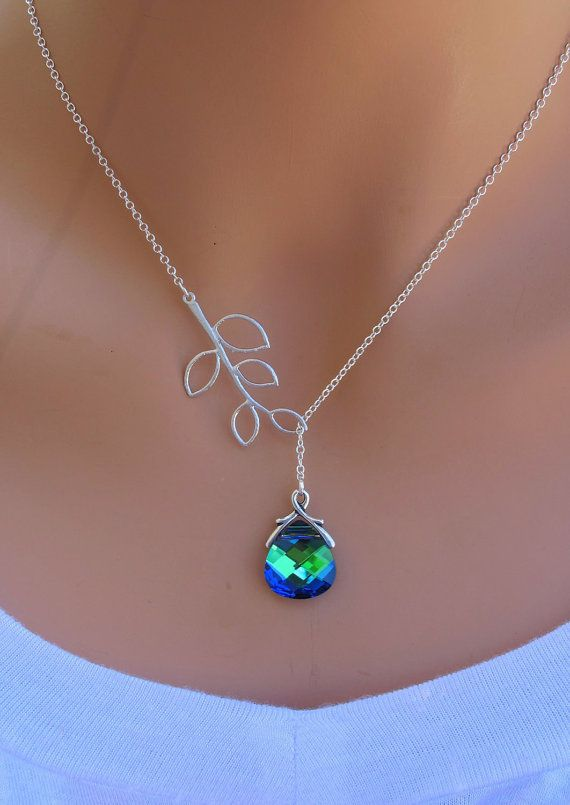 RESERVED for Jessie Betzler 6 OLIVINE and Branch sterling silver Swarovski…