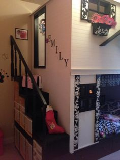 Loft Playhouse Bed - IKEA Hackers this is beautiful!! what a loving Dad that made this!.. the story is really sweet!