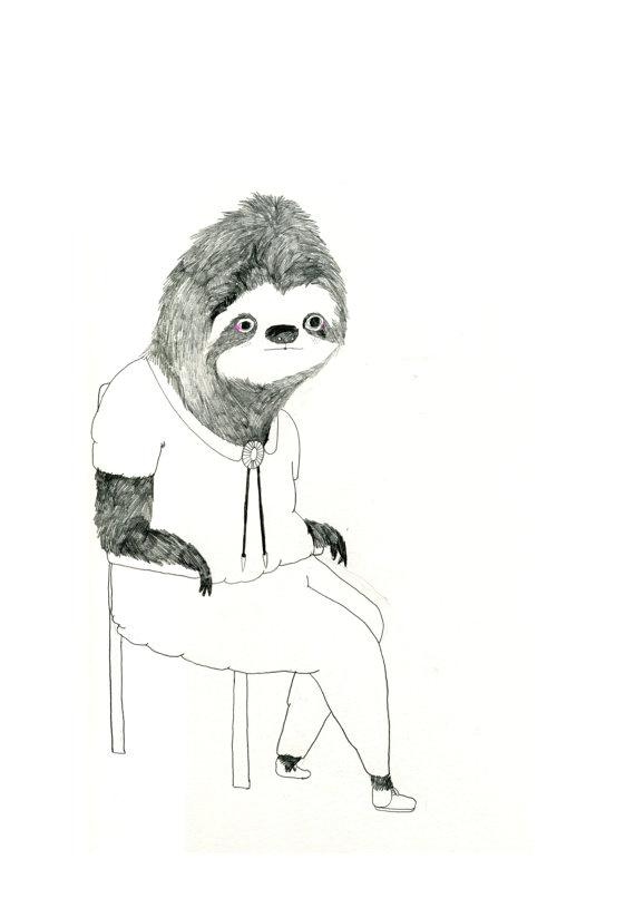 12 best Sloth illustration images on Pinterest | Sloths ...