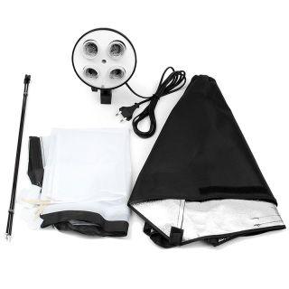 Free shipping world wide  Photography Photo Studio Lighting 4 Socket Lamp Holder with 50x70CM Soft box Soft Box