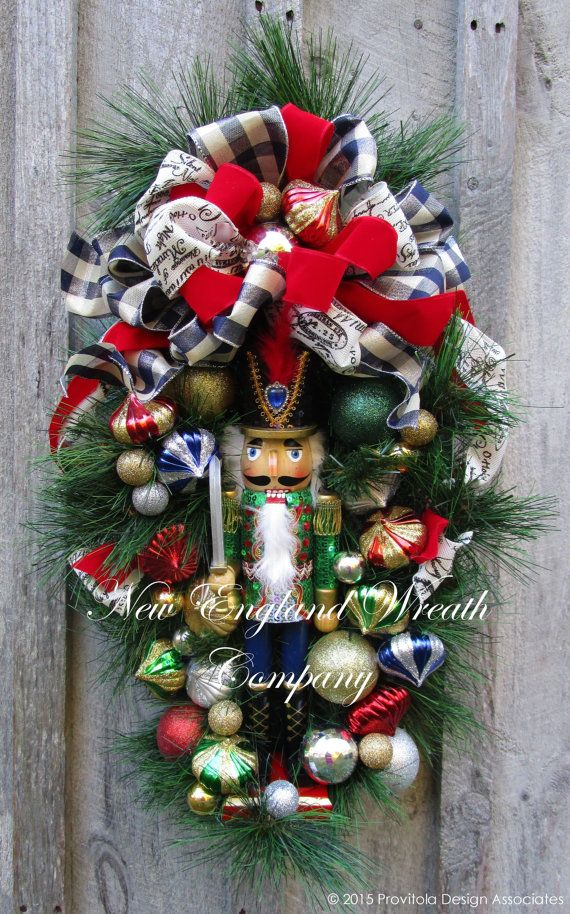 Christmas Wreath Holiday Swag Nutcracker By