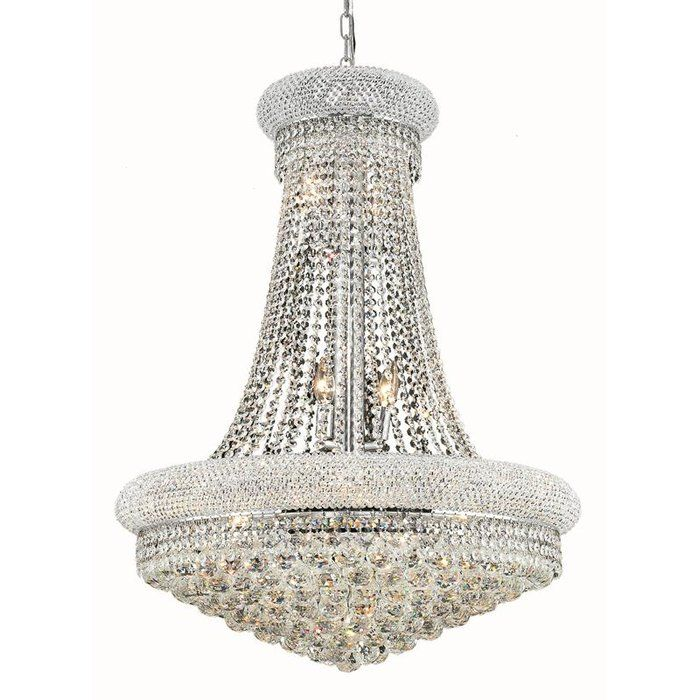 Jessenia 8 Light Unique Empire Chandelier With Crystal Accents Elegant Lighting Chandelier Ceiling Lights Crystal Chandelier