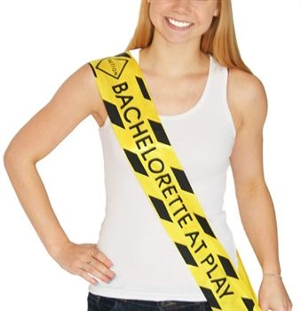 Caution Bachelorette Sash | Bachelorette Party Supplies