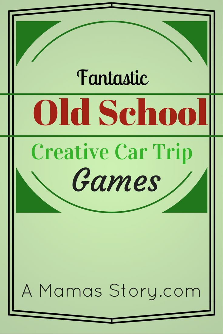 In today's modern age, car trips include video games, movies, and little chat. Check out these fantastic old school creative car trip games. No batteries!