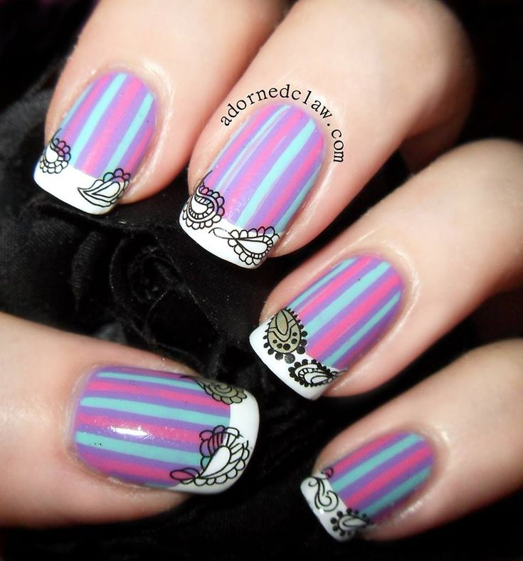 Stripe Nail Art: 25+ Best Ideas About Striped Nail Art On Pinterest