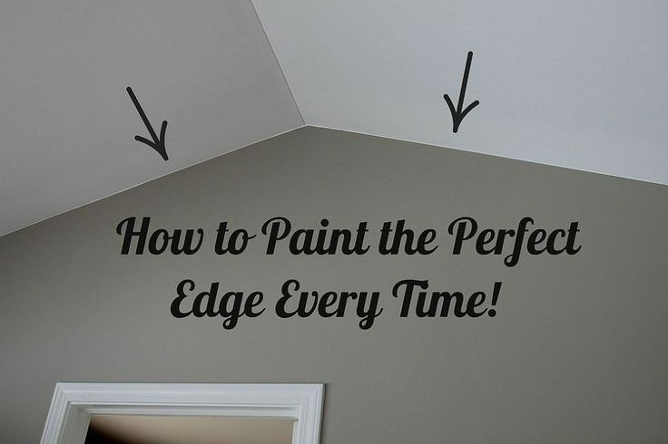 How to paint the perfect edge without painters tape!