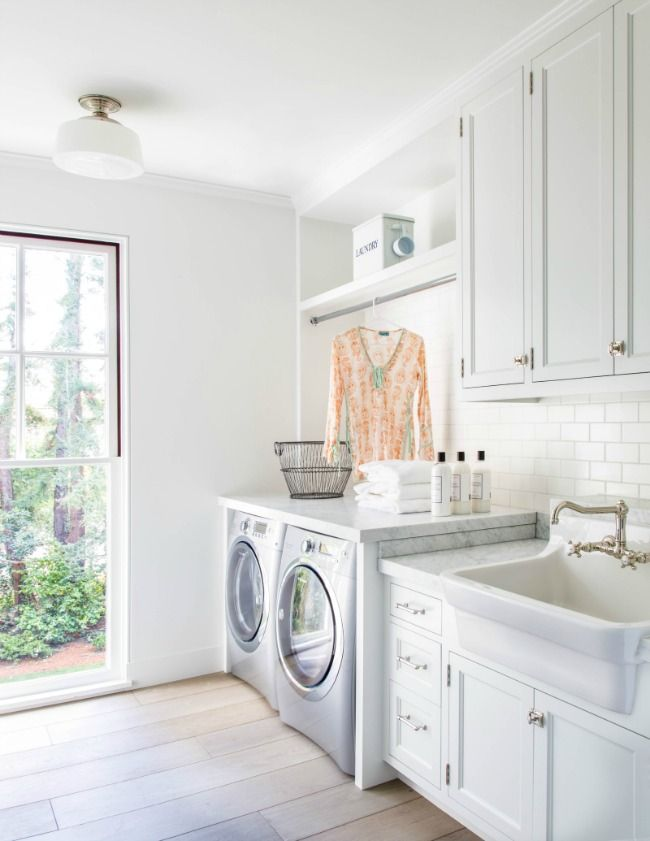Laundry Rooms Need Great Light Like This Love The Floors Too
