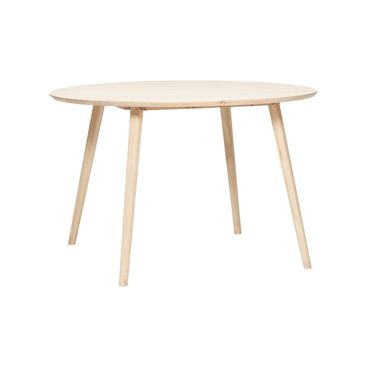 Round oak dining table. Product number: 880305 - Designed by Hübsch