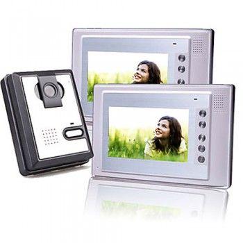 [€ 183.71] professionale Sicurezza due 7 pollici a colori TFT da videocitofono lcd porta con quadrato macchina fotografica impermeabile (420 TVL)(Adattatore AU)