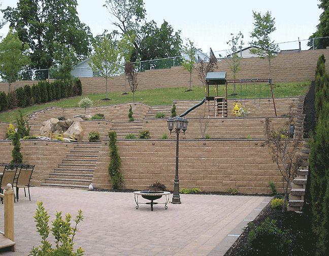 Terraced backyard hill | Yard | Pinterest on Hill Backyard Ideas id=38839
