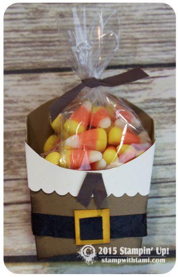 stampin up thanksgiving pilgrim french fry box