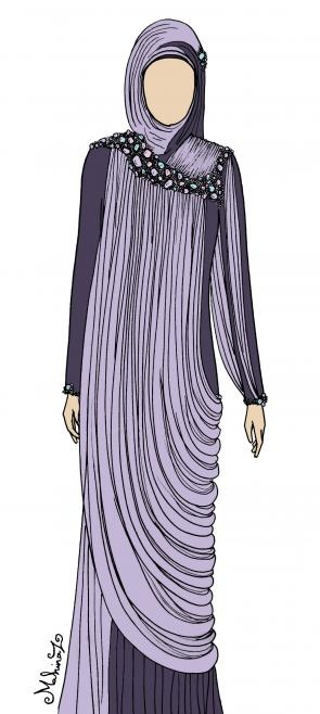 Click this picture to go to an Egyptian Abaya's designer website. I doubt she makes my size but she has lovely designs that might inspire your shopping for me.