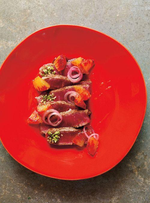 Tataki de bœuf à l'orange sanguine- Ricardo