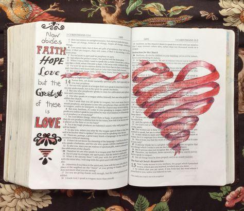 1. Korinther 13  – Bible journal