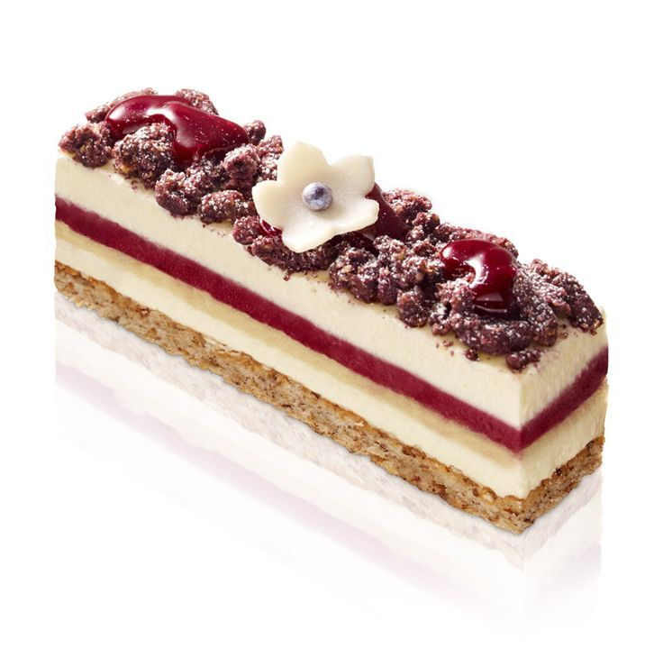 Hazelnut biscuit, black currant cream, whipped creamy cheese laced with a hazelnut streusel and a black currant marmalade. NO DELIVERY- AVAILABLE IN OUR SHOPS