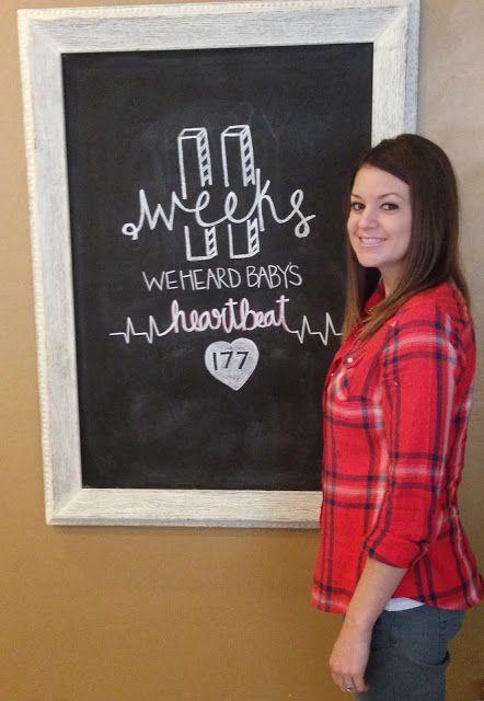 Weekly chalkboard upate. Pregnancy chalkboard. 11 Weeks