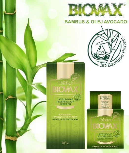 BIOVAX BAMBUS & OLEJ AVOCADO - nowa linia produktów do pielęgnacji włosów od L'biotica. Zapewnia pogrubienie i zagęszczenie oraz intensywną regenerację.
