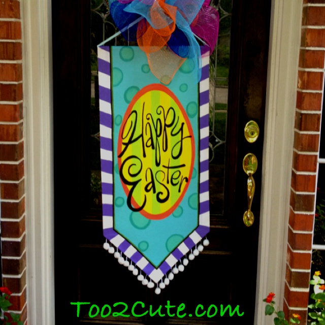 Easter door banner & 316 best Door Art Ideas images on Pinterest | Wooden door hangers ...