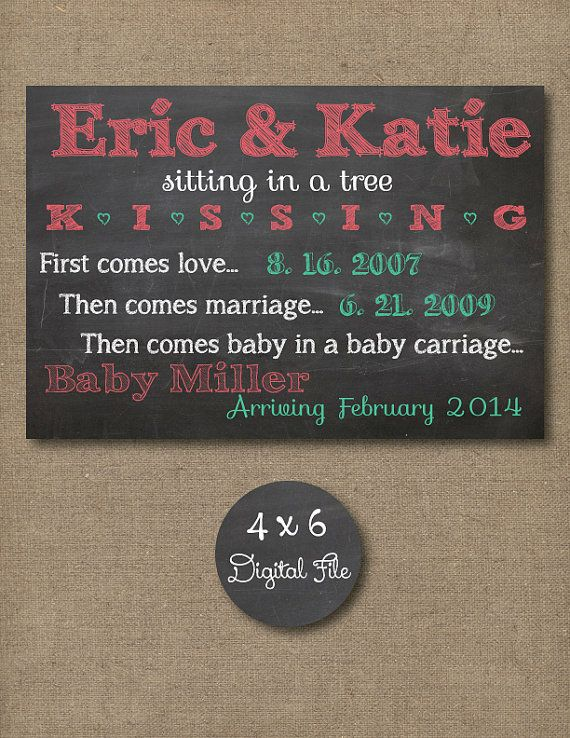 Custom Chalkboard Baby/Pregnancy by RusticRosebudDesigns on Etsy, $5.00