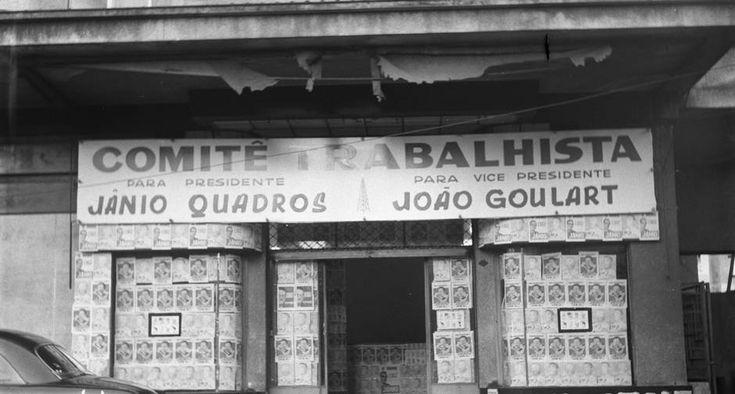 "Comitê Eleitoral de Jânio Quadros no Rio: chapa ""Jan-Jan"" (Jânio e Jango)"