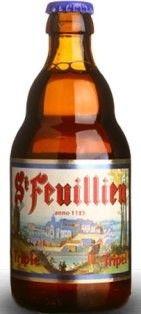 Cerveja St. Feuillien Tripel, estilo Belgian Tripel, produzida por Brasserie St-Feuillien, Bélgica. 8.5% ABV de álcool.