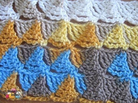 Meladoras Creation   Wedge Stitch - Free Crochet Pattern - Meladoras Creation