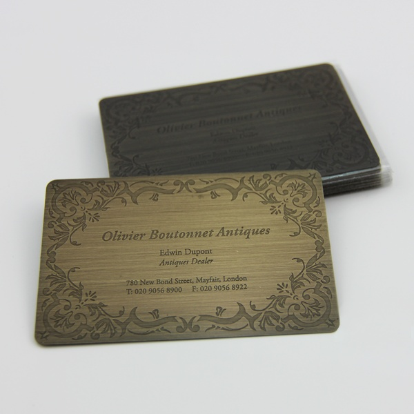 Formink Brushed Bronze Metal Business Cards Tarjetas Tarjetas De Presentacion Presentaciones