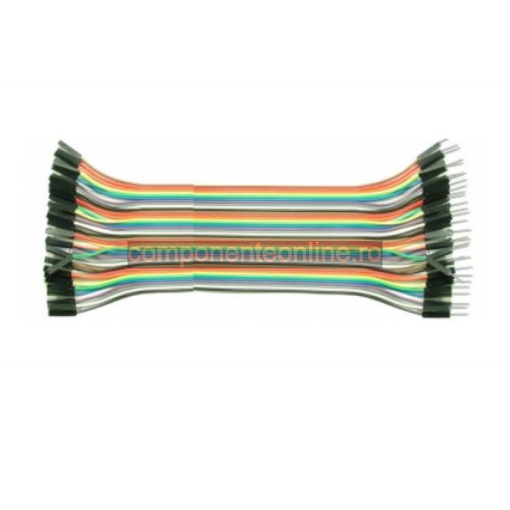 Cablu pentru teste, 40 fire, mama-tata, lungime 20cm - 129040