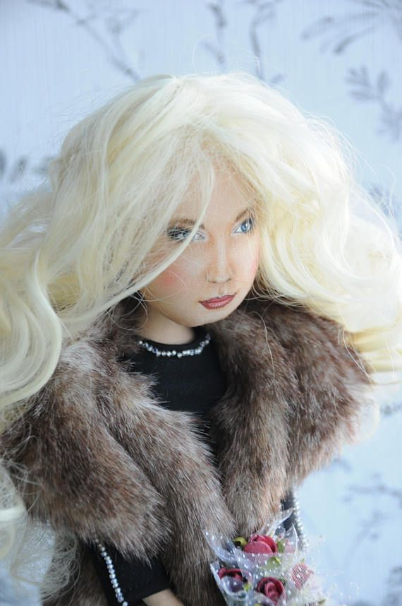 Personalized fabric doll selfie cloth doll mini me stuffed