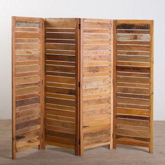 Biombo de 4 palas realizado ntegramente en madera cg - Biombos de madera ...