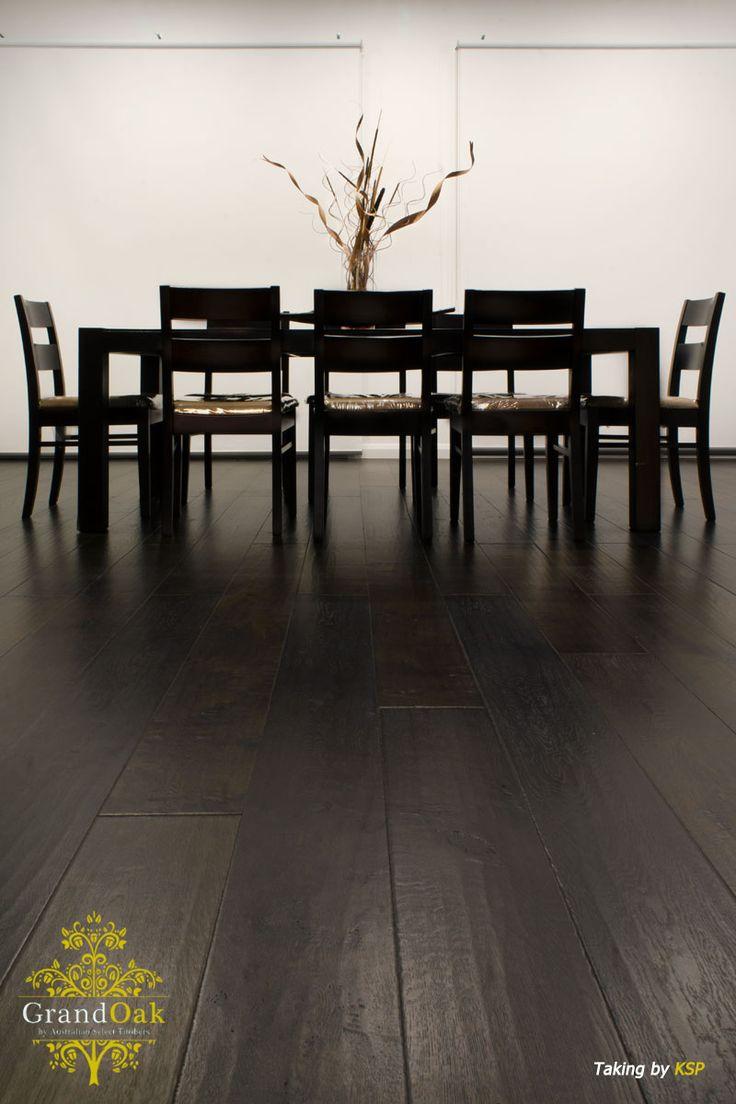 Grand Oak Timber Flooring: Burnt Oak Dining Room 2