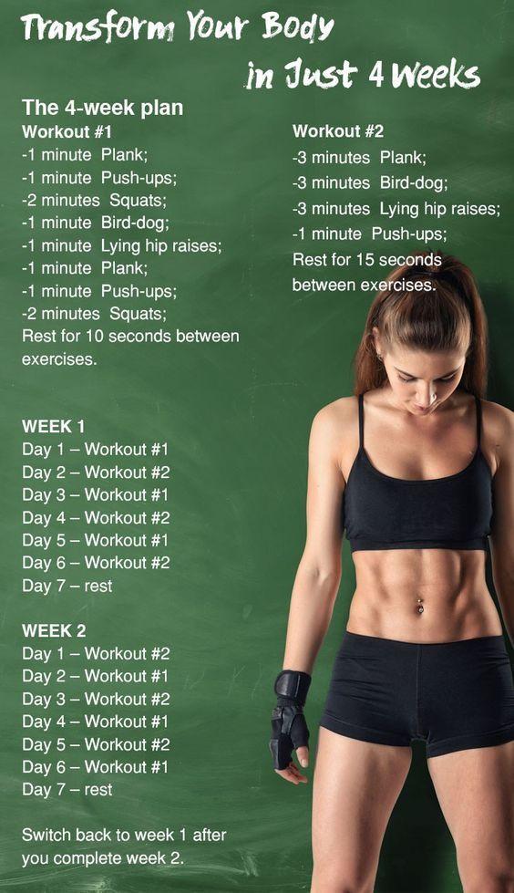5 einfache Übungen, die Ihren Körper in nur 4 Wochen verwandeln