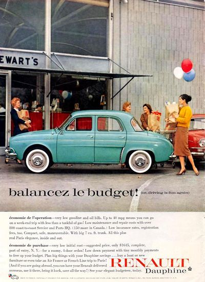 Renault Dauphine - adv (1959)