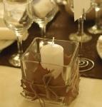 warm light autumn wedding