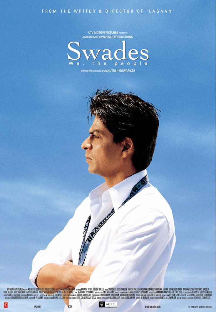 Bollywood Hero - Shahrukh Khan Movie Swades 2004 -8815