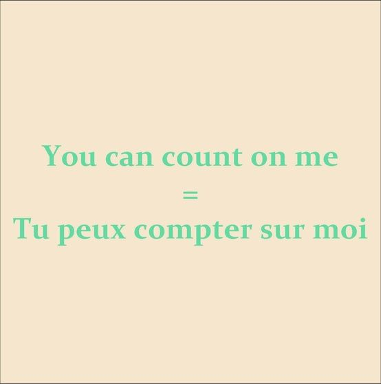 Yes you can! 'Love your French'