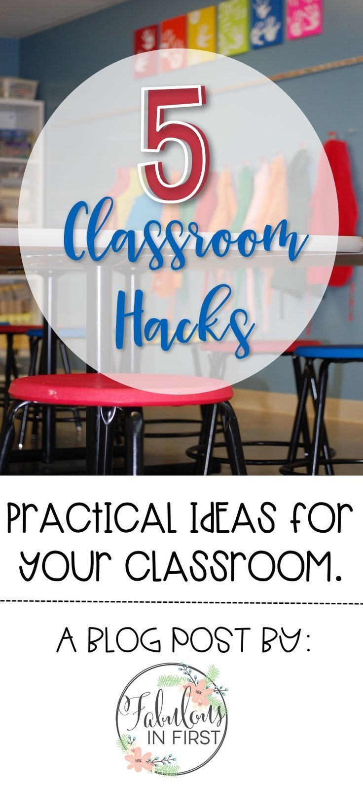 5 Classroom Hacks! Check out ways to save space in your classroom, get your students to be more independent, decorate your windows on a dime, prevent things from constantly falling off your walls, etc. Don't miss these practical classroom ideas.