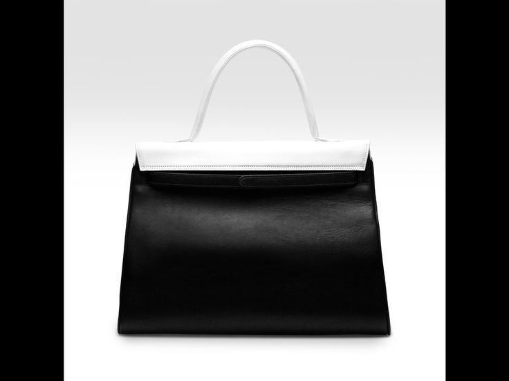 The unique B-shaped flap handbag-back