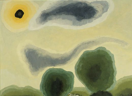 Arthur Dove - Naples Yellow Morning (1935) |PAFA - Pennsylvania Academy of the Fine Arts