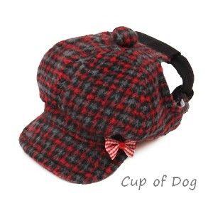 Casquette chien Hunting Cap Puppy Angel rouge https://www.cupofdog.fr/vetement-chihuahua-manteau-petit-chien-xsl-246.html