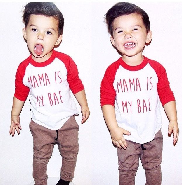 Mama is My Bae Baby & Toddler Screenprinted Tee, Handmade, Trendy, Funny, Found at www.littleadventurersapparel.com  #babyfashion #igfashion #igshop #handmade #handcrafted #fashion  @LittleAdventurersApparel