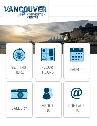 The Vancouver Convention Centre app is so pretty! I love the solution that they came up with for this type of app.