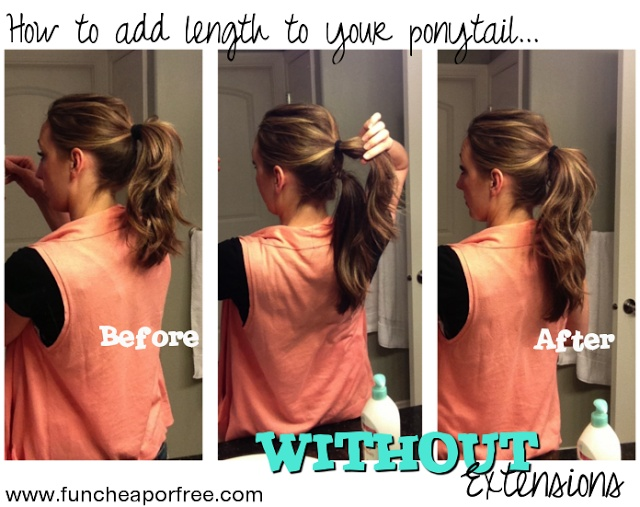 How to add length to ponytails...WITHOUT extensions.