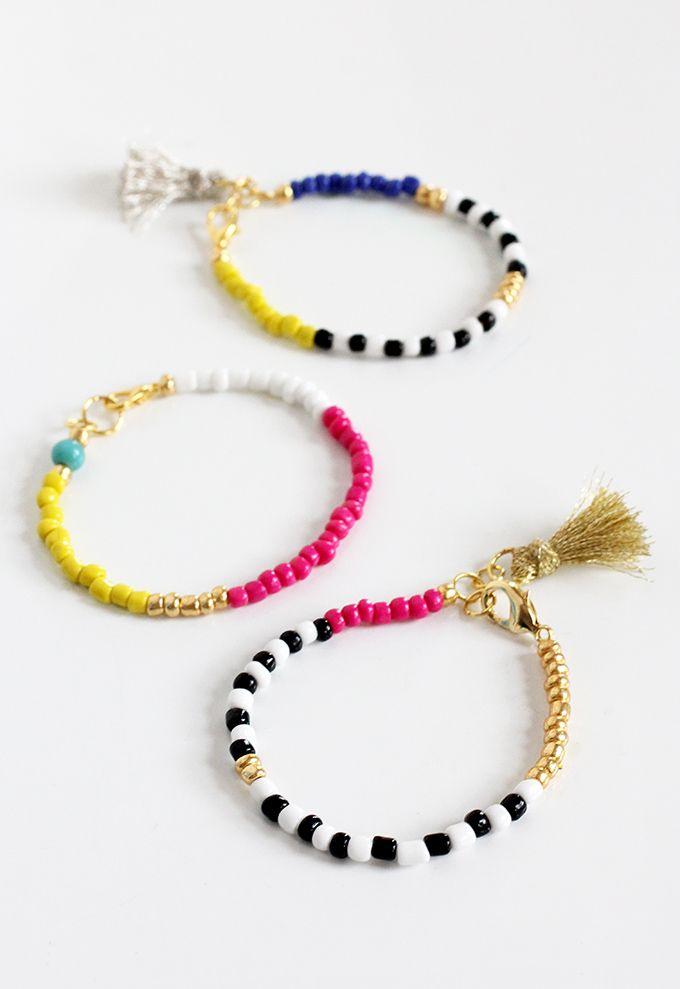 DIY: beaded tassel jewelry