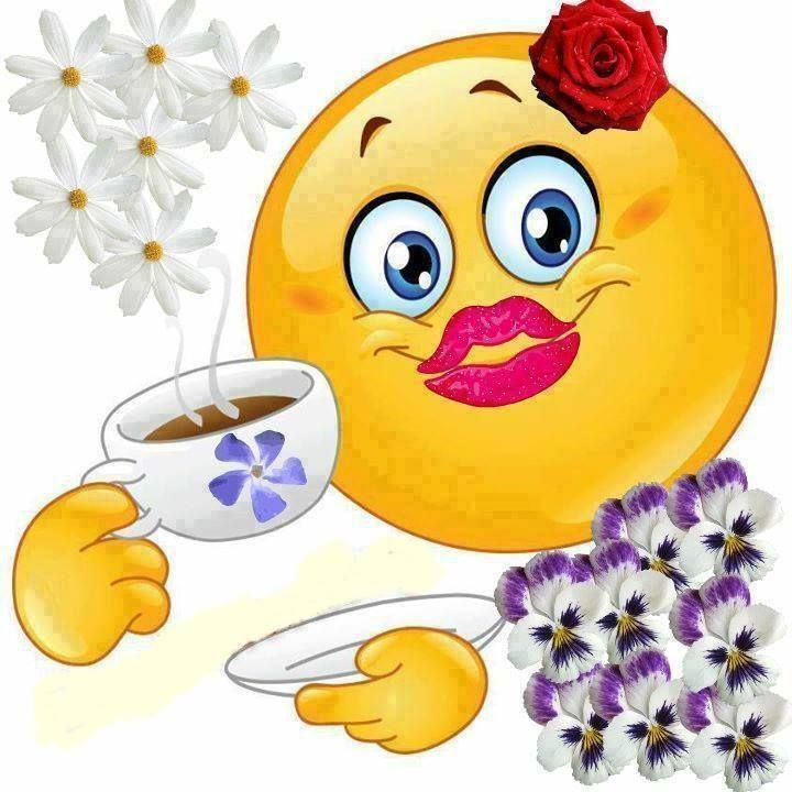 Mit Blumen reichlich du beschenkt , eine Tasse Kaffee sei dir vergönnt! ☕