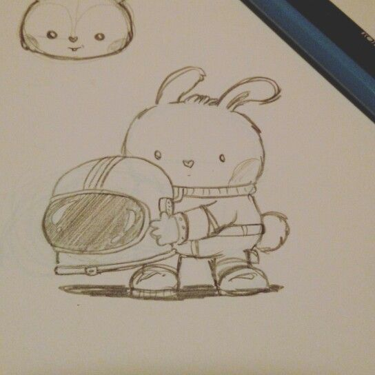 Space bunny ready for launch