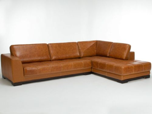 Perfect Ecksofa L kombi Sofa Echtleder Kunstleder braun Couch Couchgarnitur
