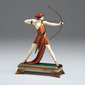 Lot:Archer by Ferdinand Preiss, Lot Number:1167, Starting Bid:$1500, Auctioneer:Cowan's Auctions, Inc., Auction:Archer by Ferdinand Preiss, Date:05:00 AM PT - Jul 14th, 2013