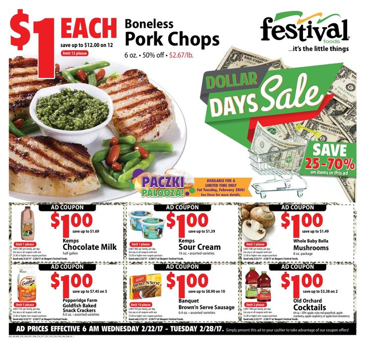 Weekly Specials Foods Festival