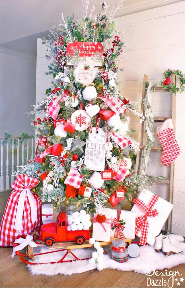 Best 25+ Red christmas trees ideas on Pinterest | White christmas tree with  red, Red black tree and Red black white christmas